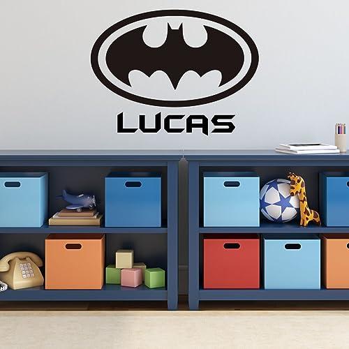 Batman Wall Decal   Personalized Superhero Logo Symbol, DC Comics Vinyl  Home Decor
