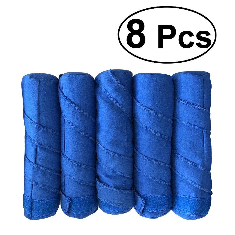 frcolor Sleep pelo rodillo 8pcs heat-free noche sueño rizadores para el cabello para largo pelo grueso o rizado (azul): Amazon.es: Belleza