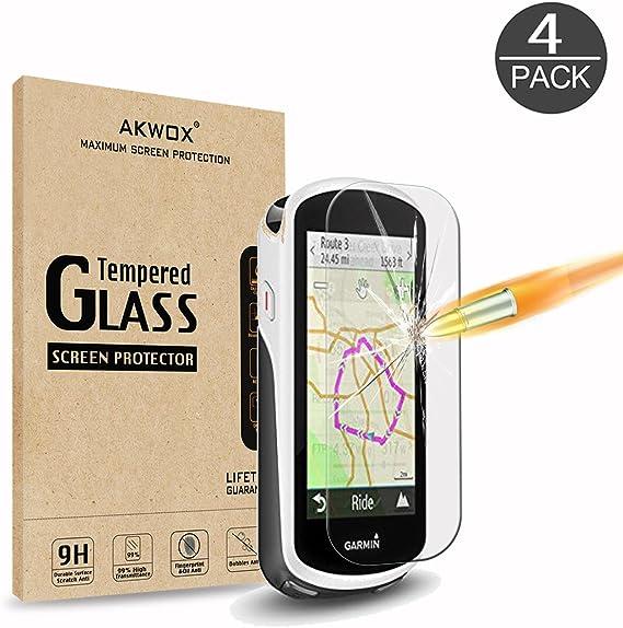 4 Unidades] Protector de Pantalla para Garmin Edge 1030 AKWOX [9H Dureza] Cristal Vidrio Templado para Garmin Edge 1030 Cristal Templado: Amazon.es: Electrónica