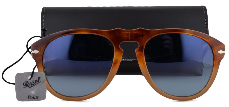 Persol PO0649S Sunglasses Resina E Sale w/Polarized Blue Gradient Lens 1025S3 PO0649