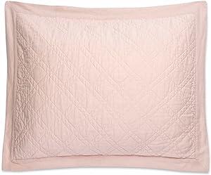 Levtex home Sasha Blush Linen Cotton Standard Sham, Blush, Solid