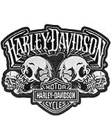 Harley-Davidson Skull Text Bar & Shield Embroider Emblem, LG 8 x 6.5 in EM169884