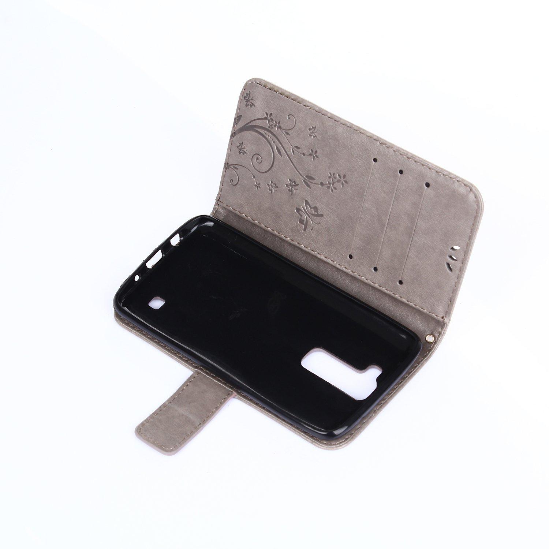 Dooki LG K4/ Supporter Flip Piel Sint/ética Funda Protectora Funda Carcasa Tipo Cartera para LG K4/con cr/édito Tarjeta Tenant Hendidura /Carcasa