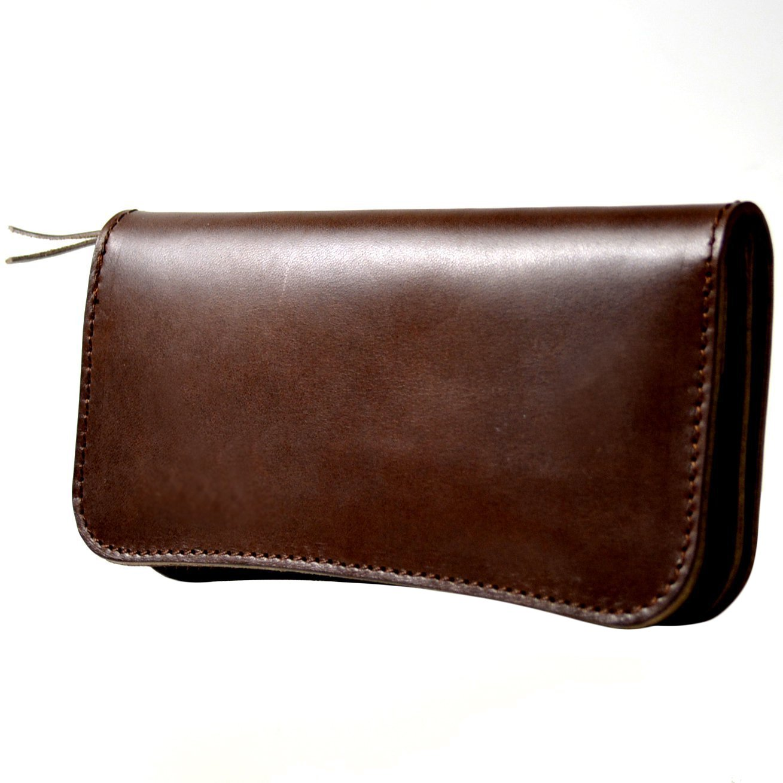atelierCODEL 栃木レザー 長財布 日本製 ヌメ革 メンズ B06VXZ7XVZ ダークブラウン ダークブラウン