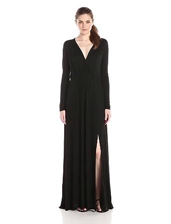 LAmade Women's Sapphire Surplice Maxi Dress, Black, X-Small