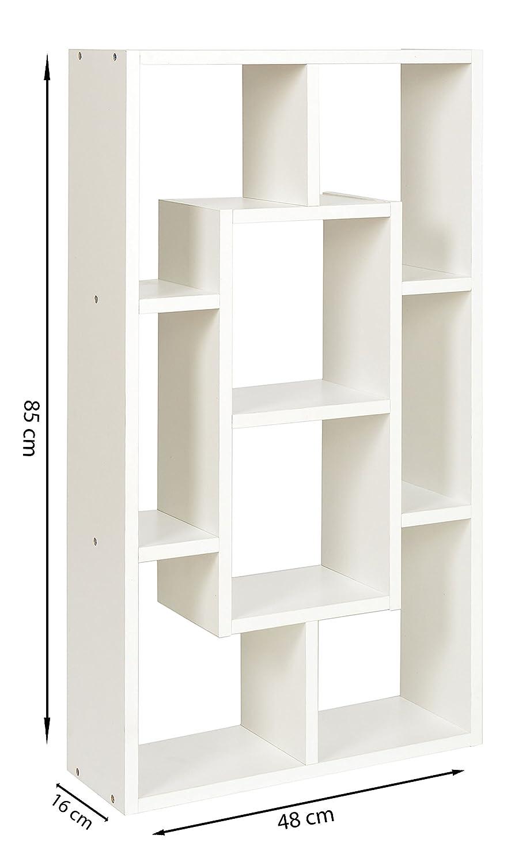 Regalsystem holz weiß  ts-ideen Standregal CD-Regal Buch-Regal Bücherregal Aufbewahrung ...