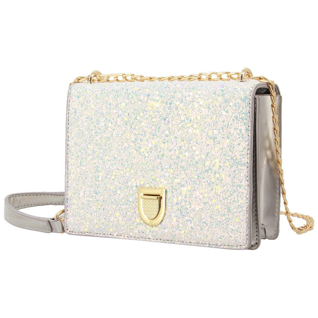 Gabrine Womens Shoulder Crossbody Evening Bag Handbag Clutch Purse Glitter Sequin for Dailywear Wedding Party