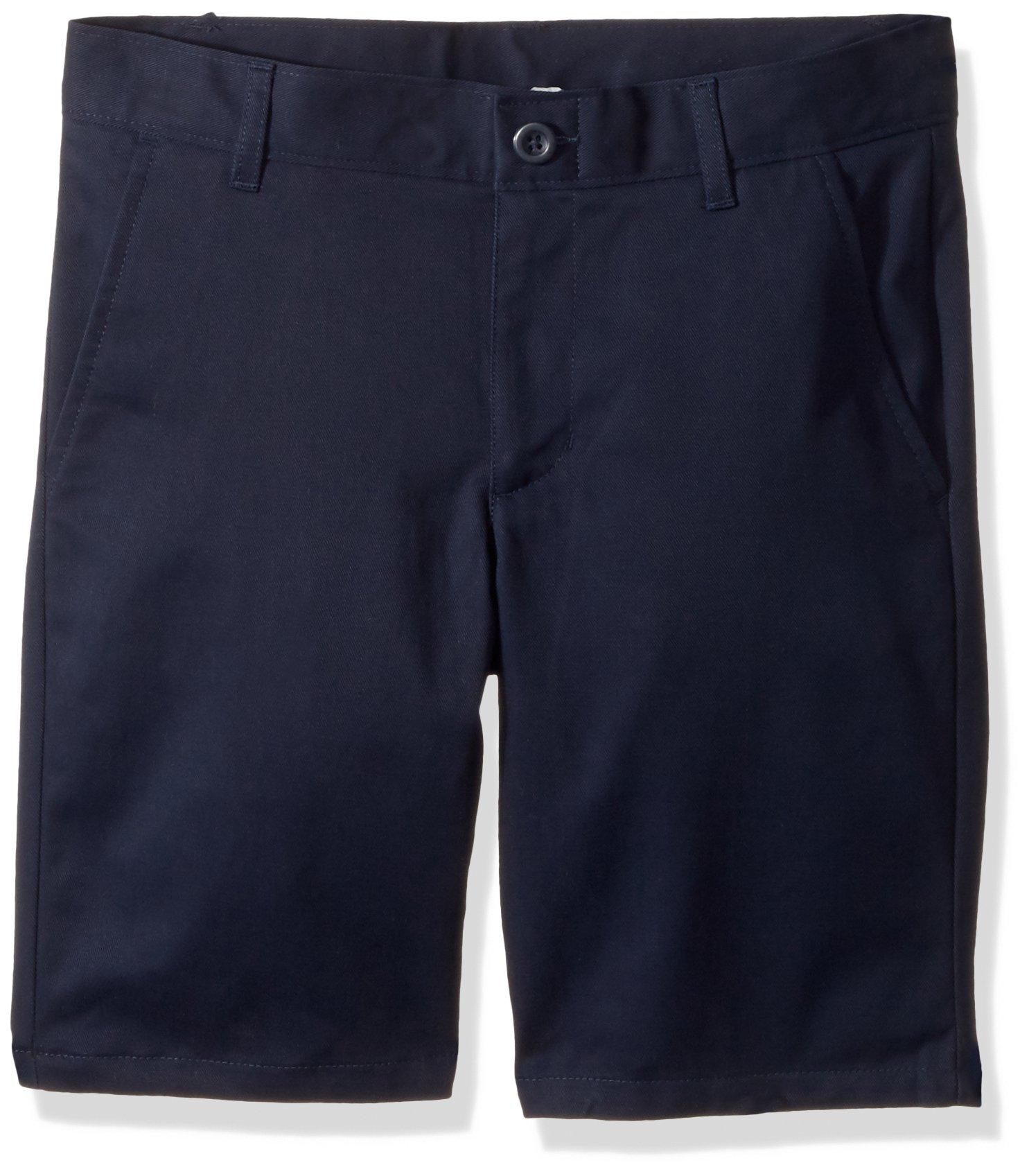 Nautica Boys' Husky Flat Front Twill Short, su Navy, 12