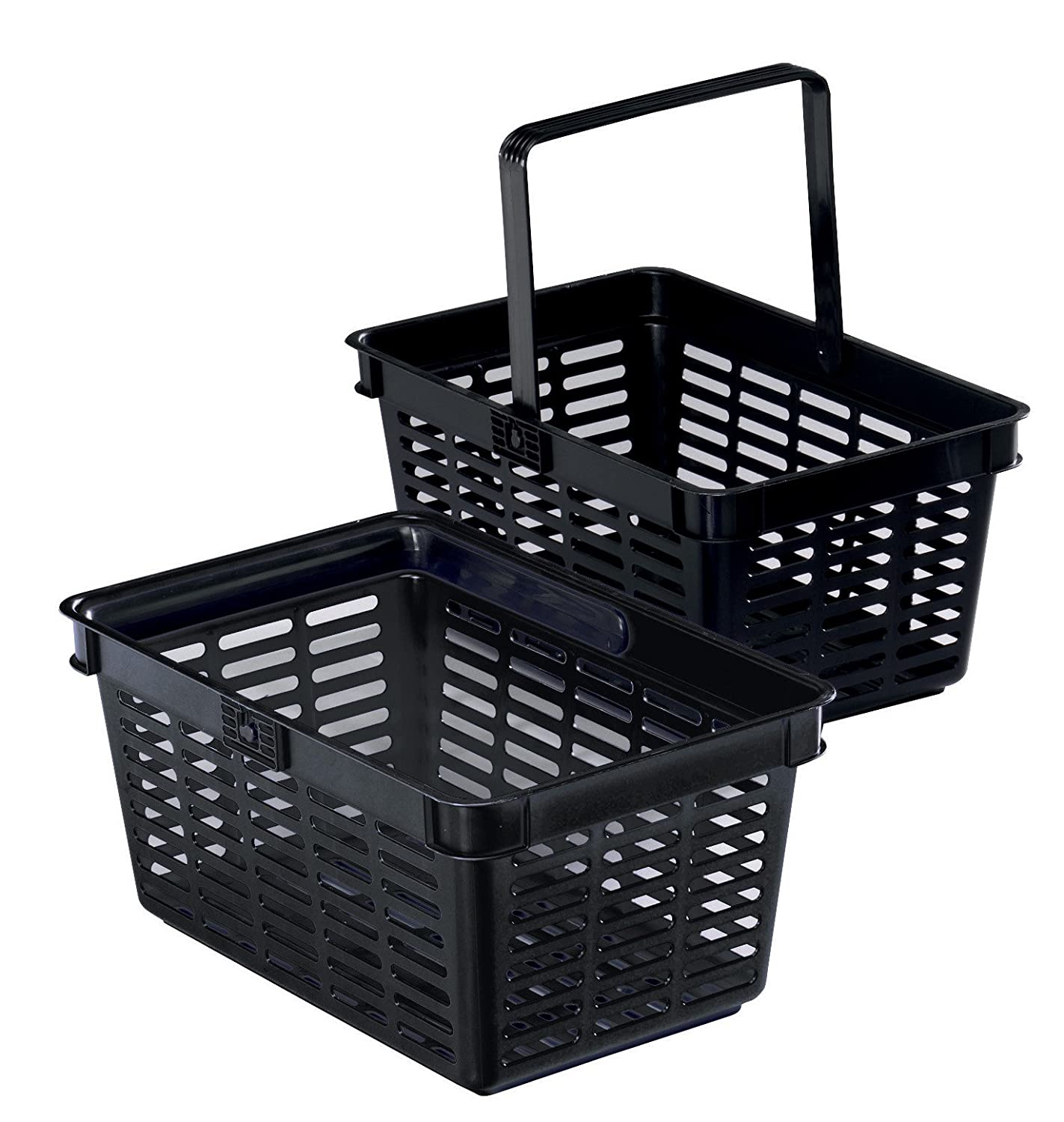 Durable - Cesta de compra (6 unidades), color negro 1801565060