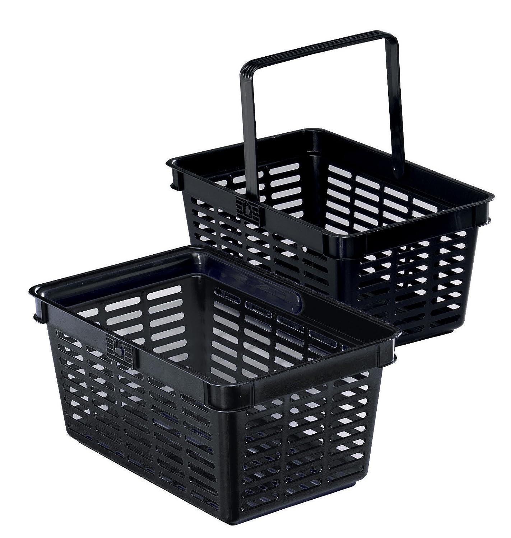 Durable - Cesta de compra (6 unidades), color negro 1801565060