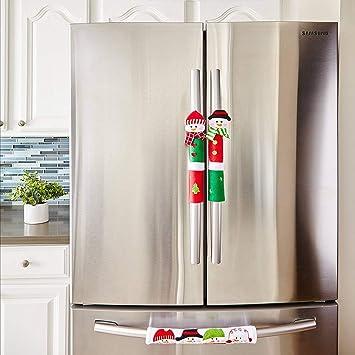 Amazon Com Vlovelife Refrigerator Door Handle Covers Christmas