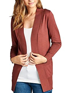 011cf3665 MAYSIX APPAREL Long Sleeve Knit Sweater Open Front Cardigan W Pocket for  Women (S