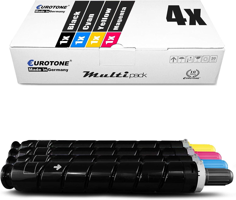 4x Eurotone Toner Für Canon Ir C2020i C2225i Ir C2030i C2030li C2220i Ir C2025i Ir C2220l Ir C2230 Ir C2225i Ir C2020l C2230i Ersetzt C Exv34 Set Bürobedarf Schreibwaren