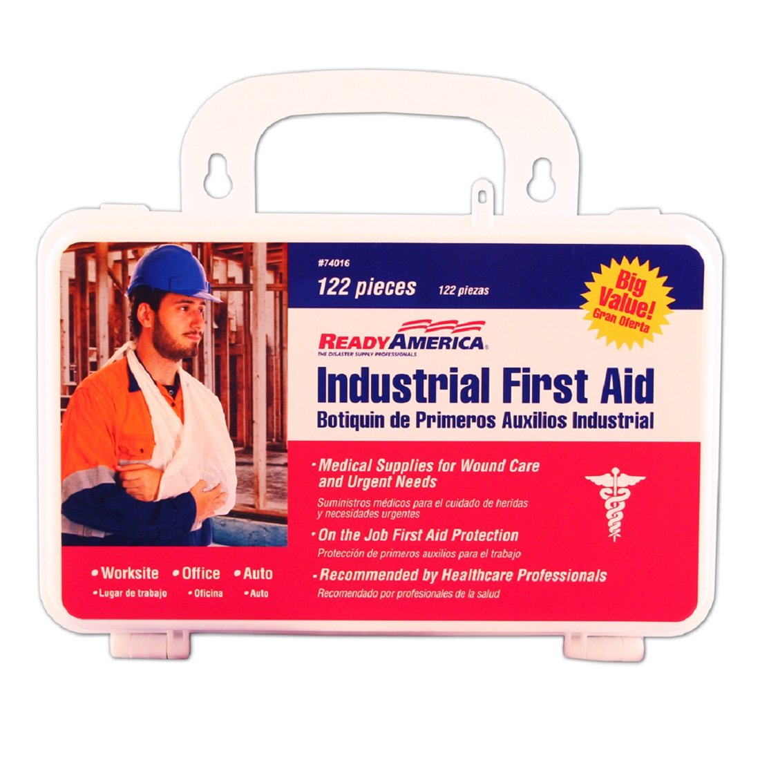 Ready America 74016 Industrial First Aid Kit, 122-Piece