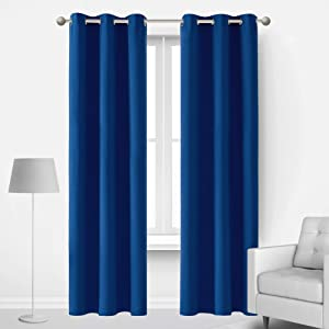 Deconovo Blackout Curtains Room Darkening Set of 2 Window Panel with Grommets Summer Heat Winter Cold Noise Reducing for Living Room Adutls Kids Teen Toddler Baby Bedroom 42x72 in, Royal Blue