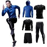 (コージョー) kojo コンプレッションウェア セット スポーツウェア メンズ 上下 5点セット トレーニング ランニング ジム フィットネス 吸汗 速乾