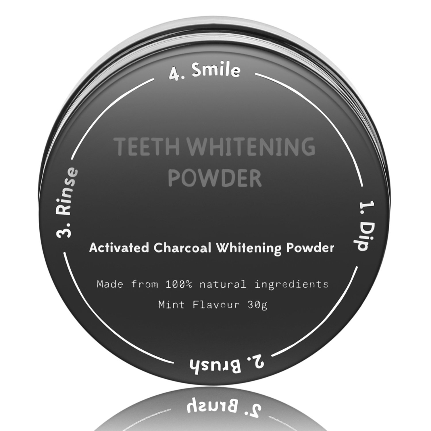 Wloomm Natural Teeth Whitening Powder with Activated Charcoal Non Abrasive&Proven Safe for Enamel Teeth Whitening Powder for Teeth and Gums 30g/1.05oz Upgraded Organic Charcoal Teeth Whitening Powder