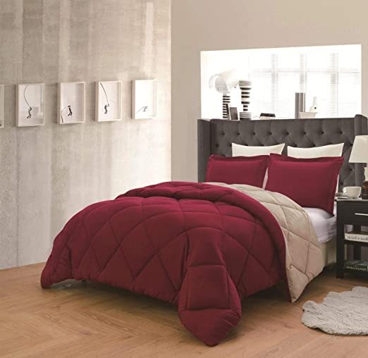 Empire Home Down Alternative Hypoallergenic 3-Piece Reversible Comforter Set