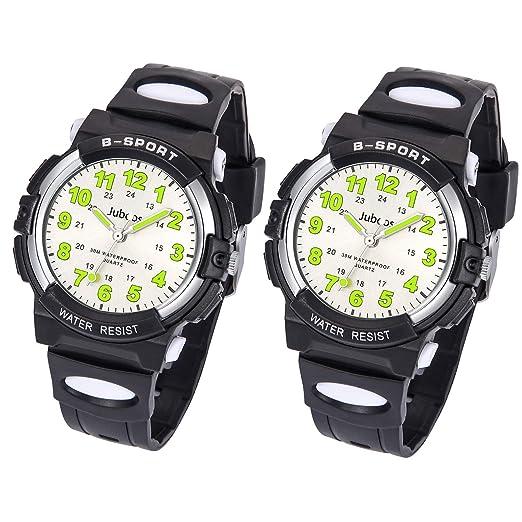 Relojes Niños, Reloj de Pulsera para Niños y Niñas Impermeable Reloj Deportivo de Cuarzo-
