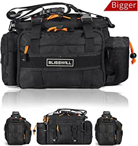 BLISSWILL Fishing Tackle Bags Waist Fishing Bag Water-Resistant Fishing Gear Storage Bag Fly Fishing Bag Durable Handbag Bags for Fishing