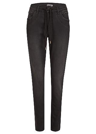 Angels Damen Jeans,Patti  mit Tunnelzug und Ziersteinen  Amazon.de   Bekleidung 821f522201