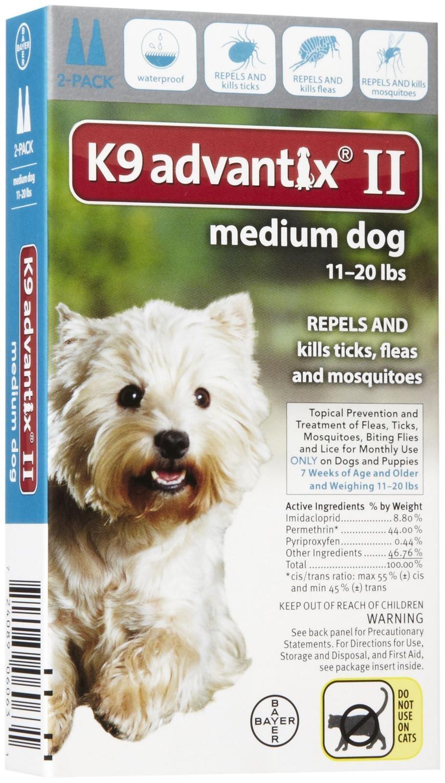 Bayer Animal Health K9 Advantix Ii Medium Dog 2-Pack