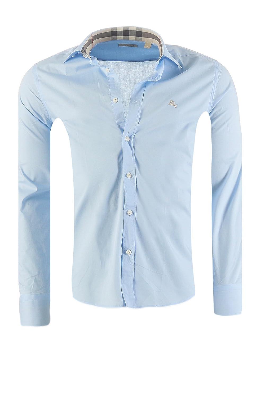 e19b7d9e90 Burberry Camicia Classiche - Basic - Classico - Maniche Lunghe - Uomo:  Amazon.it: Abbigliamento