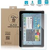 tinxi® Tempered Glass Hartglas Schutzfolie für Samsung Galaxy Tab 2 10.1 P5100 P5110 / Samsung Galaxy Note 10.1 N8000 Premium Screen Folie Protector Ultra Hart Displayschutz 0,3mm clear 2.5D