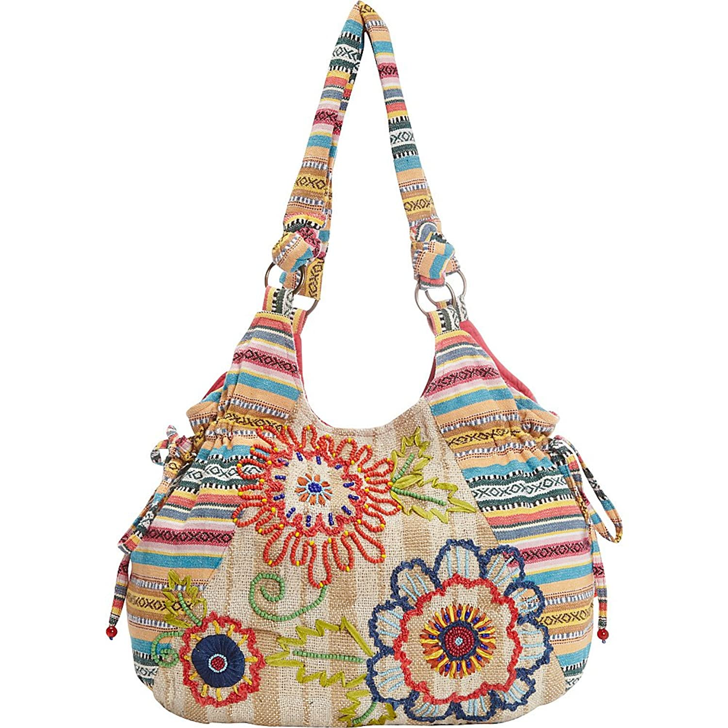 Scully Women's Flower Power Tote - C7-Nat-One