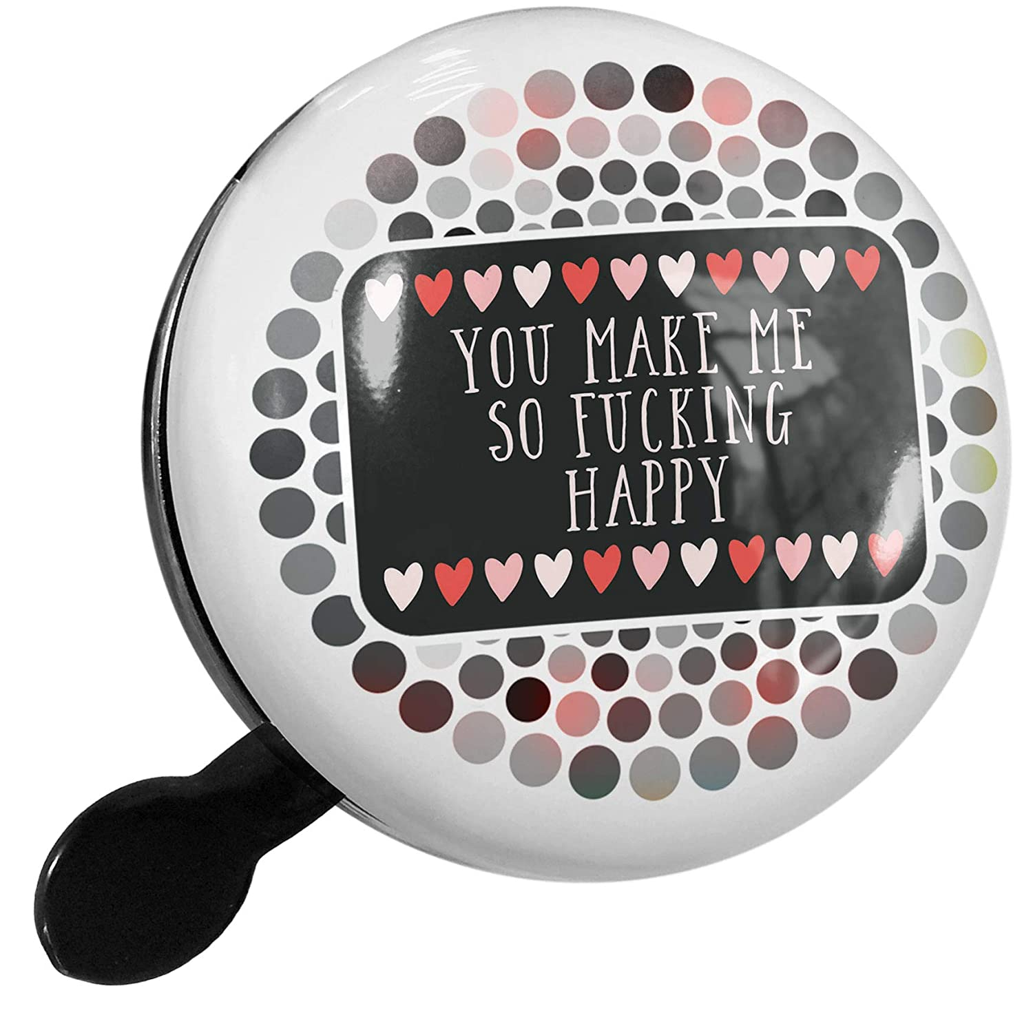 Amazon.com : NEONBLOND Bike Bell You Make Me So Fucking Happy Valentine's  Day Cute Hearts Scooter or Bicycle Horn : Sports & Outdoors