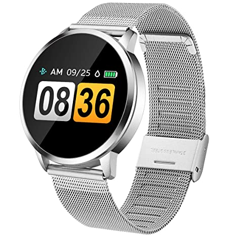 Womens Smart Watch, Pard 2019 Fitness Tracker with Heart Rate Blood Pressure Monitor for Ladies and Girls, Silver (9.5 inch)