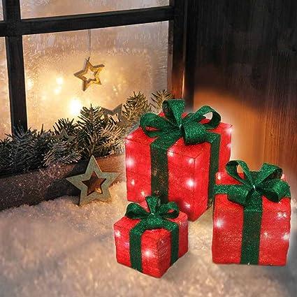 Jago - Luz decorativa en forma de cajas de regalo - set de 3 piezas de
