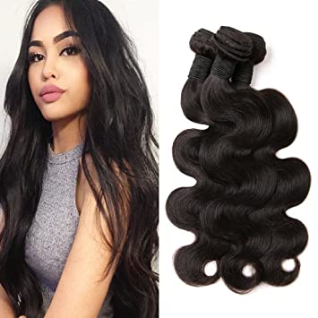 Maylasian Body Wave 3 Bundles Real Human Hair Extensions Unprocessed Virgin  Hair Sew In Weave For 63bc310e09
