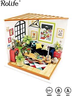 Rolife QLCRAFT DIY Balcony Miniature Mini Doll House Model Kits to Build Christmas Valentines Birthday Gift for Girls /… ROBOTIME