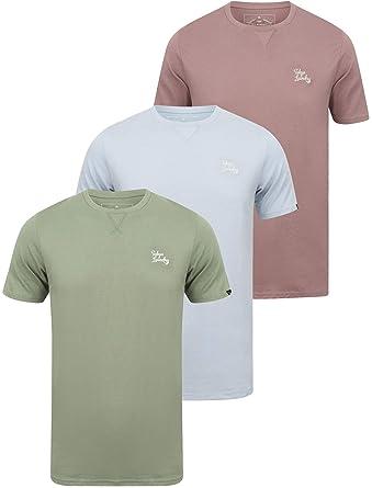 56570838 Tokyo Laundry Mens 3 Pack Plain Combed Cotton Tee T-Shirt Top Plain Mix  Colours: Amazon.co.uk: Clothing