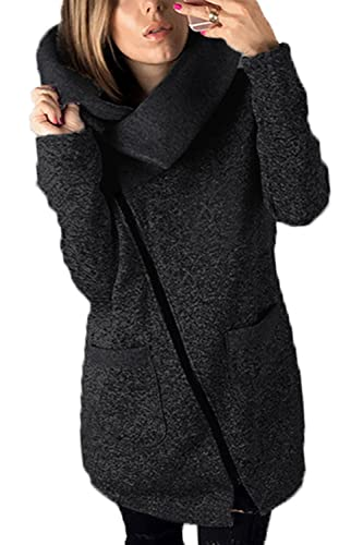 La mujer otoño - invierno 2 capas casual con cremallera chaqueta con capucha outcoat Plus Size