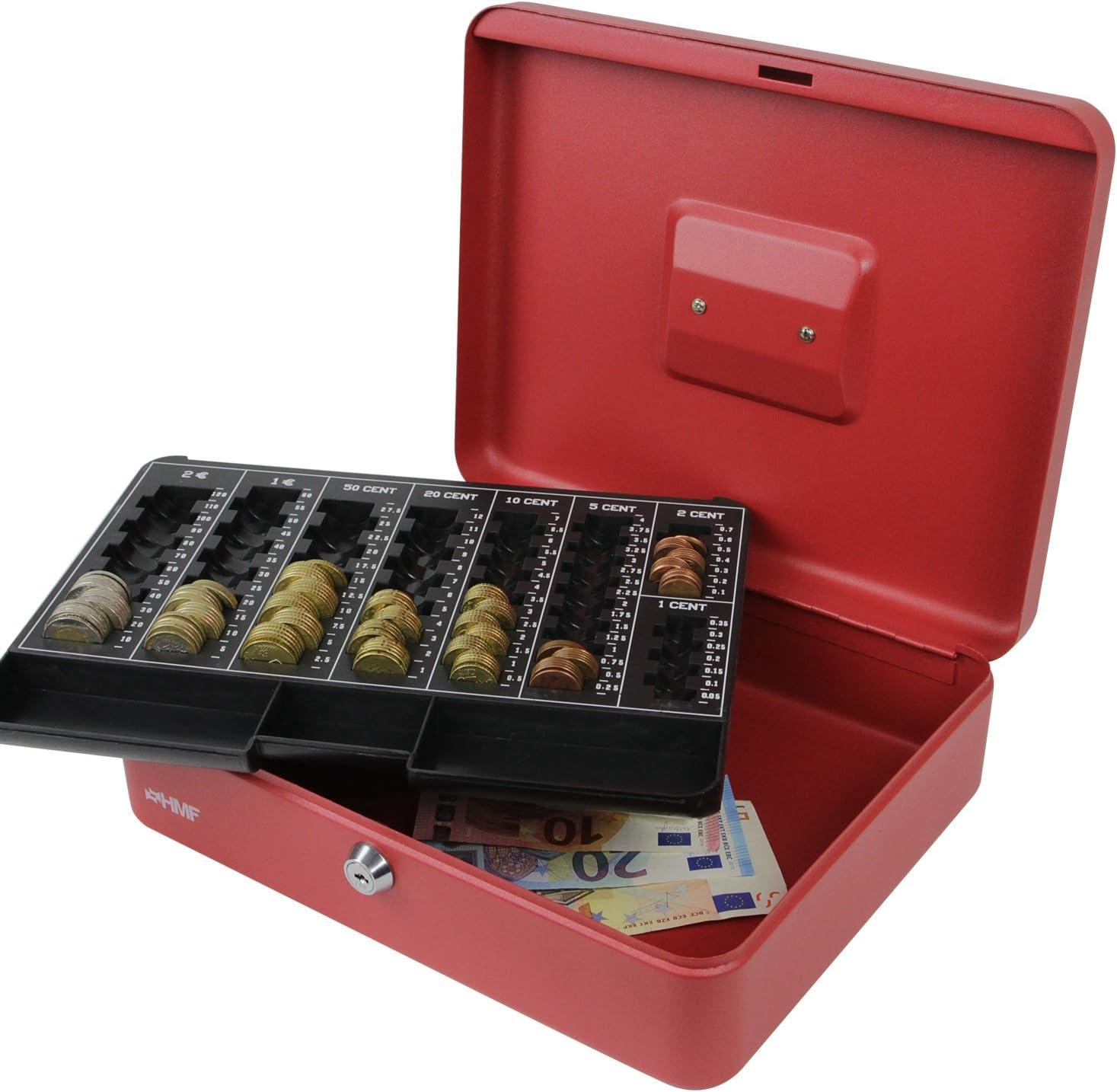 silber HMF 108-09 Geldkassette Euro-M/ünzz/ählbrett 30 x 24 x 9 cm