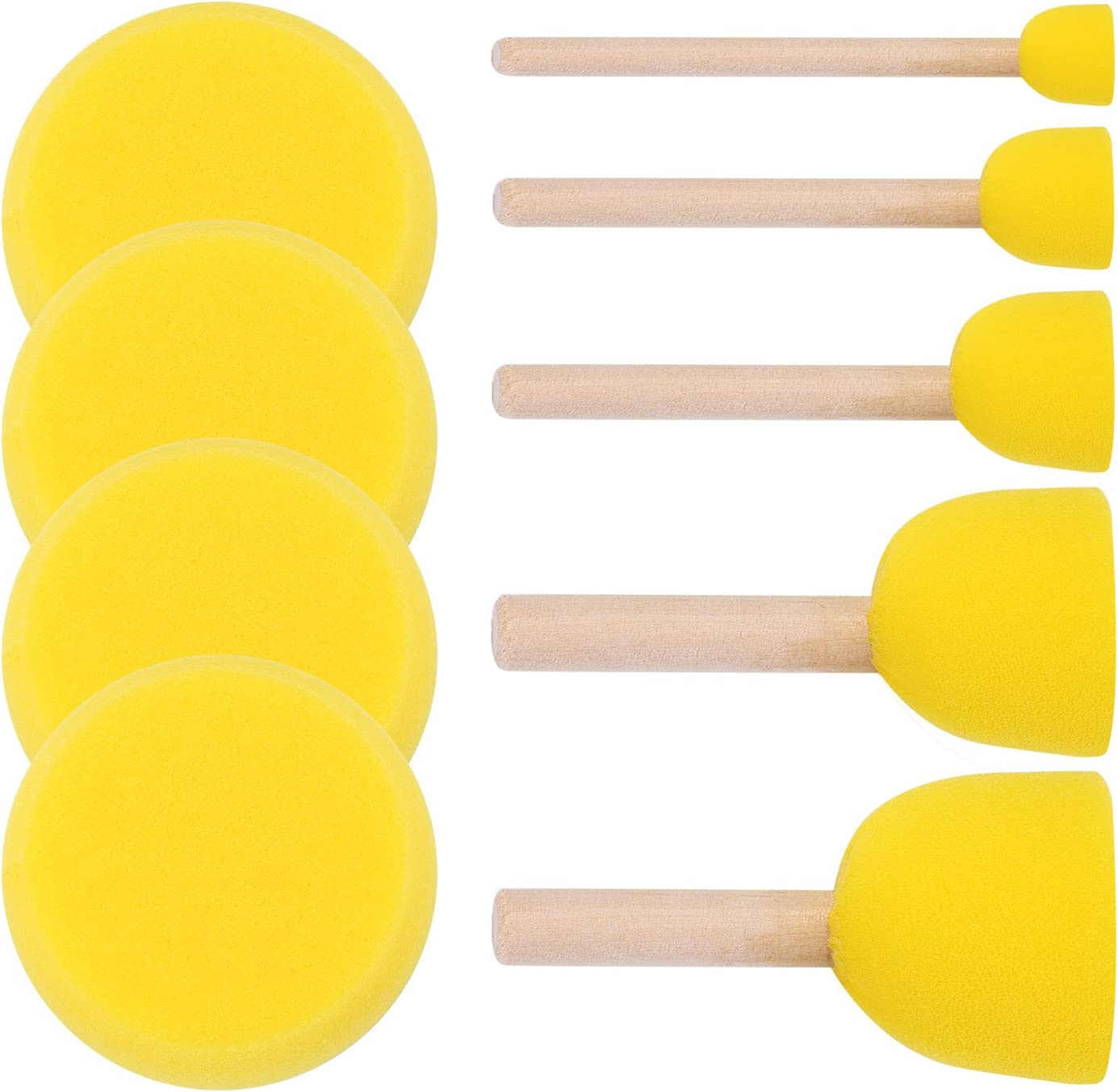 ULTNICE Runde Schw/ämme Pinsel Set Kinder Pinsel DIY Malerei Werkzeuge Packung mit 20