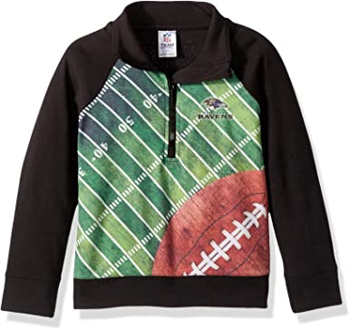 2T NFL Baltimore Ravens Unisex 1//4 Zip Sweathirt Black