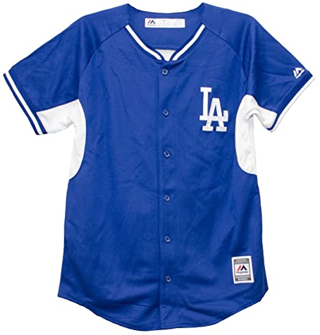 Outerstuff Los Angeles Dodgers Blue and White Youth Fashion Jersey (Youth  Small 8) bf94e920a