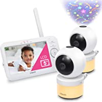 """VTech VM5463-2 Video Baby Monitor with 5"""" Screen, Pan Tilt Zoom, Sound Activated Night Light & Glow-On-The-Ceiling…"""