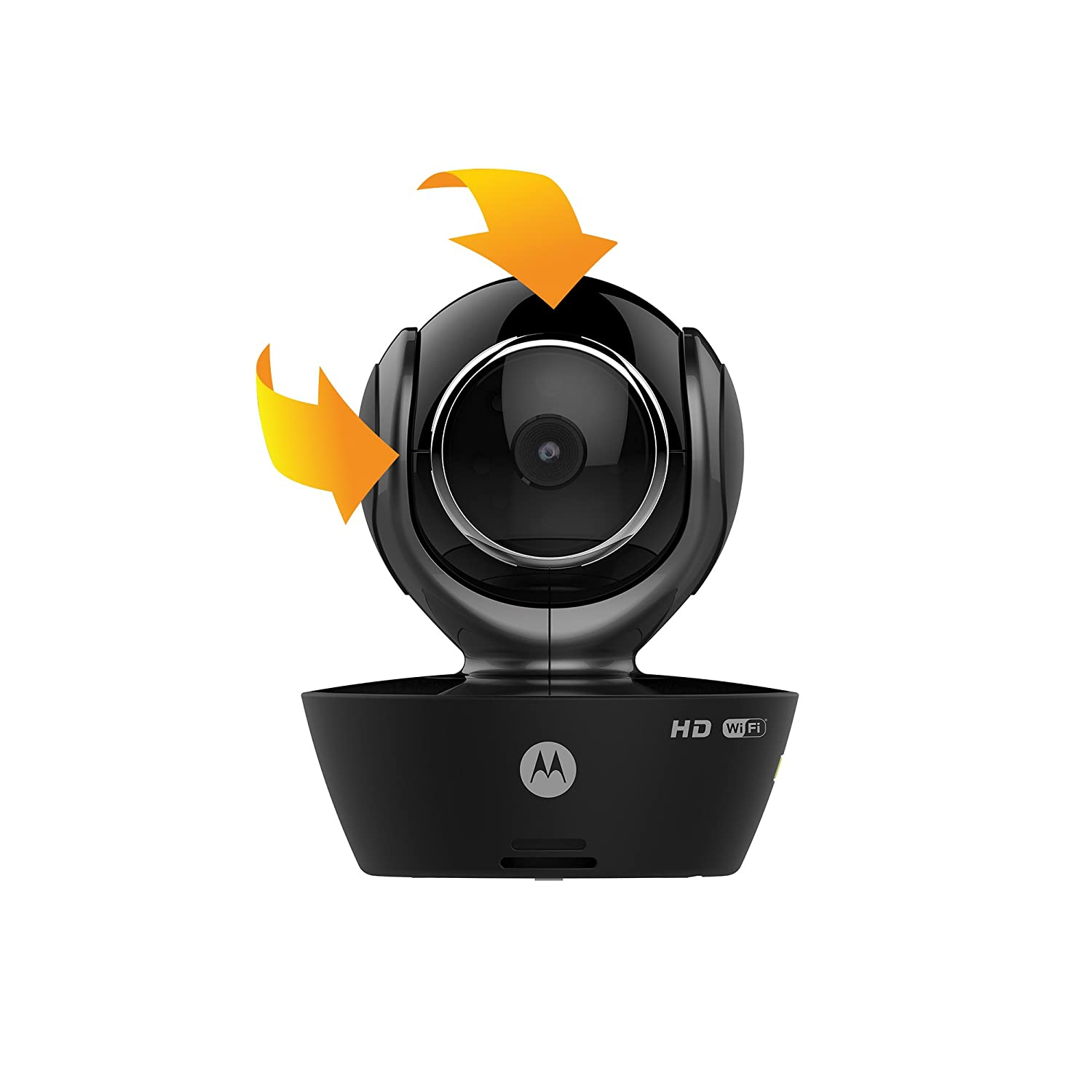 Black Tilt and Zoom MOTOROLA FOCUS85-B Wi-Fi HD Home Monitoring Camera with Remote Pan