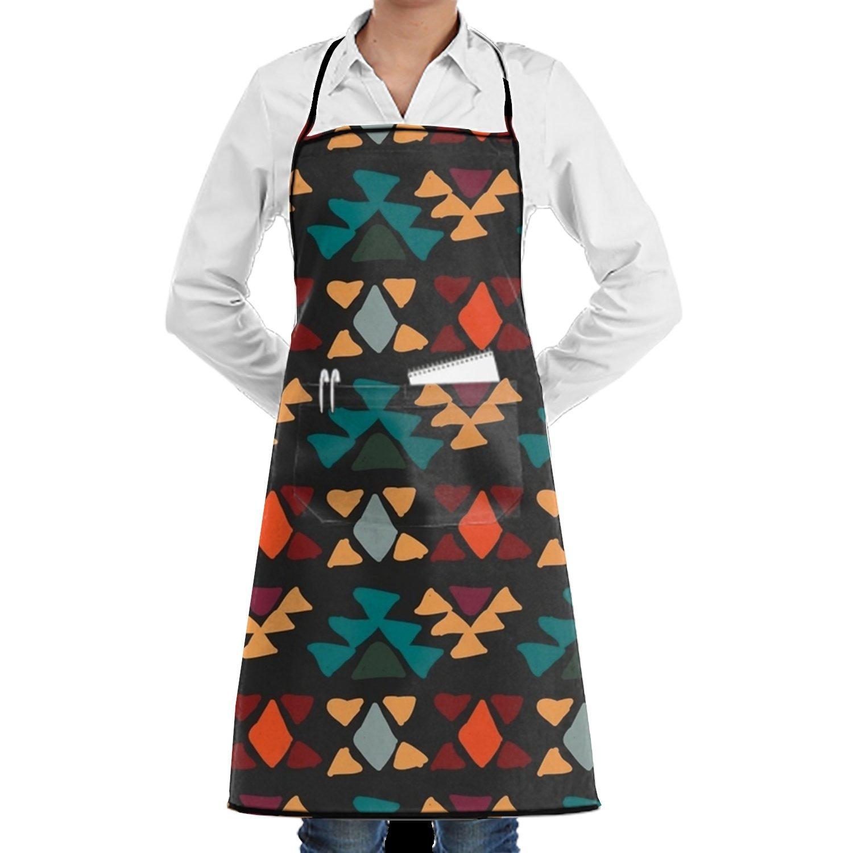 shuangrendeカスタムno Killナマケモノ調節可能なポケット付き料理キッチンよだれかけエプロンレディースメンズのシェフ One Size ホワイト  Ethnic Style4 B07G372DVT