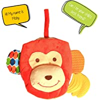 A Baby Cherry :: First Book for Infants and Toddlers (0M to 3 Yrs) - Unisex || Multipurpose Toy, Educational Book, Teether, Easy to Clean (Monkey)