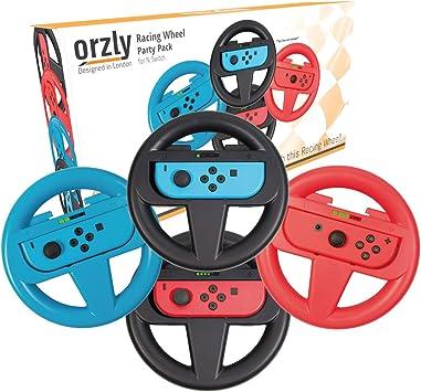 Orzly Volantes 4 en 1 para Mario Kart Nintendo Switch: Amazon.es ...