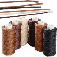 BETESSIN 6 Rollos Cordón Encerado 150D/1mm 50m Cuerda