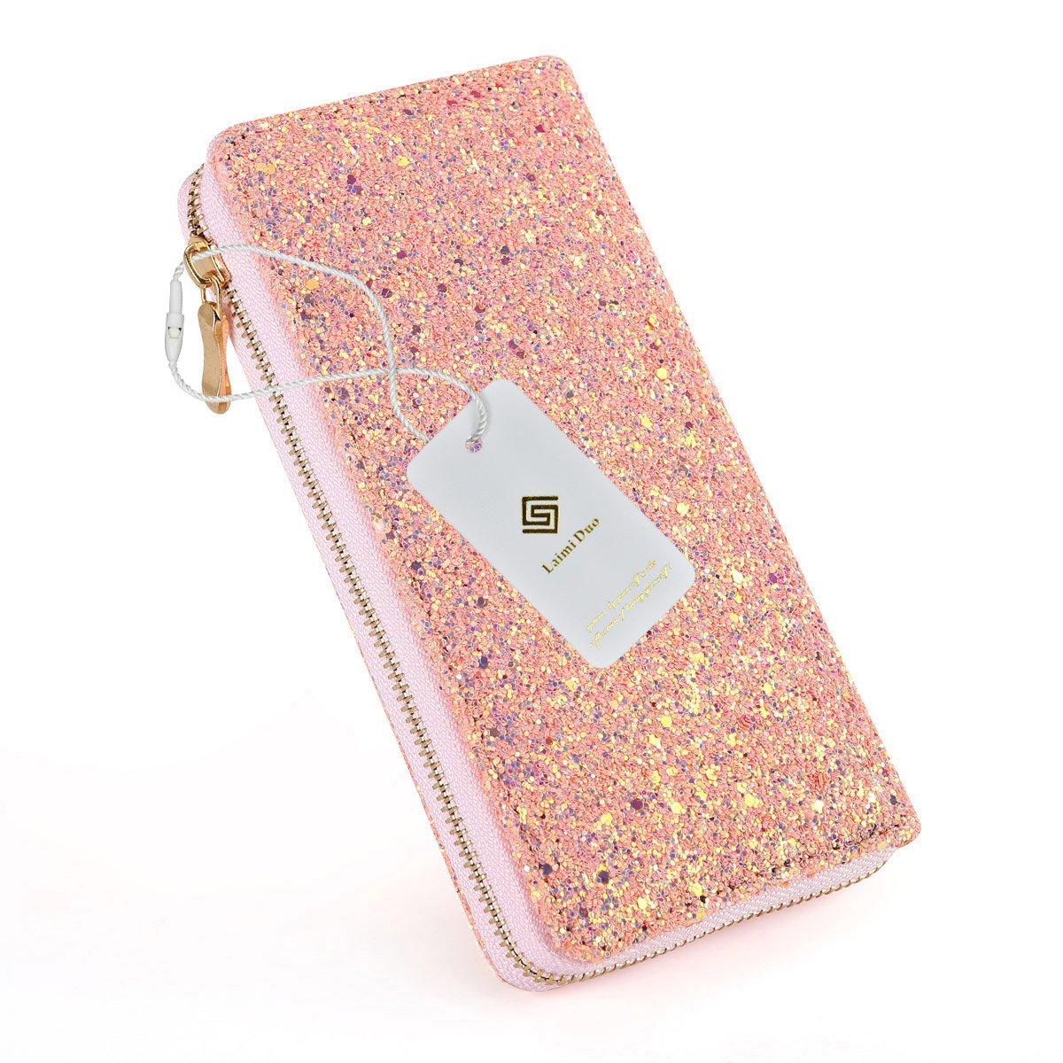 Luxry Pink Glitter Purse Girl's Wallets Bling Women's Handbag Evening Clutch Envelope bag