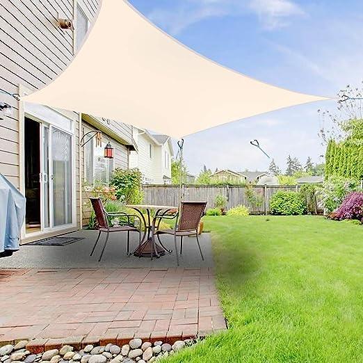 Greenbay toldo para toldo de vela para patio o jardín al aire libre 3, 6 m x 3, 6 m cuadrado, crema: Amazon.es: Jardín