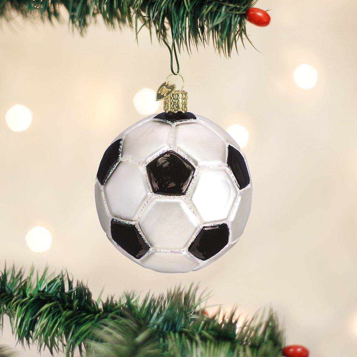 Soccer ornaments - Amazon Com Old World Christmas Soccer Ball Glass Blown Ornament Home Kitchen