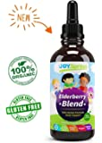 Organic Elderberry Syrup for Kids - Best Natural Kids Cold Medicine, Pure Elderberry Blend for Sickness Relief, 3x Stronger Vegan & Sugar-Free Formula to Strengthen Immune System